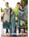 Beauteous Faux Crepe Multi Colour Embroidered Work Churidar Designer Suit