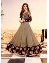 Shilpa Shetty Black Anarkali Salwar Kameez