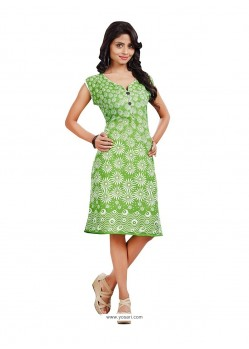 Modish Print Work Casual Kurti