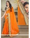 Auspicious Patch Border Work Designer Saree