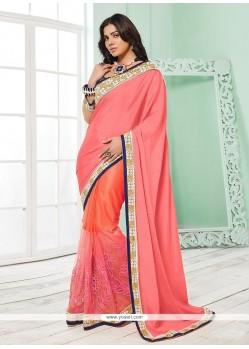 Fine Pink Silk Classic Saree
