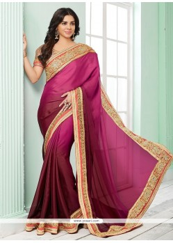 Mystic Georgette Embroidered Work Classic Saree