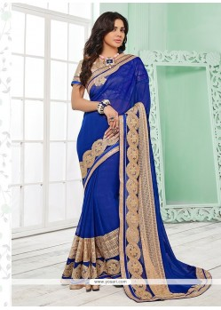 Pretty Patch Border Work Classic Saree