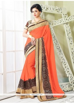 Gorgonize Embroidered Work Classic Saree