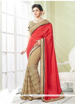 Urbane Georgette Embroidered Work Classic Saree