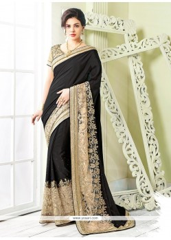 Trendy Patch Border Work Georgette Classic Saree