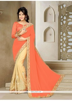 Groovy Georgette Embroidered Work Classic Saree