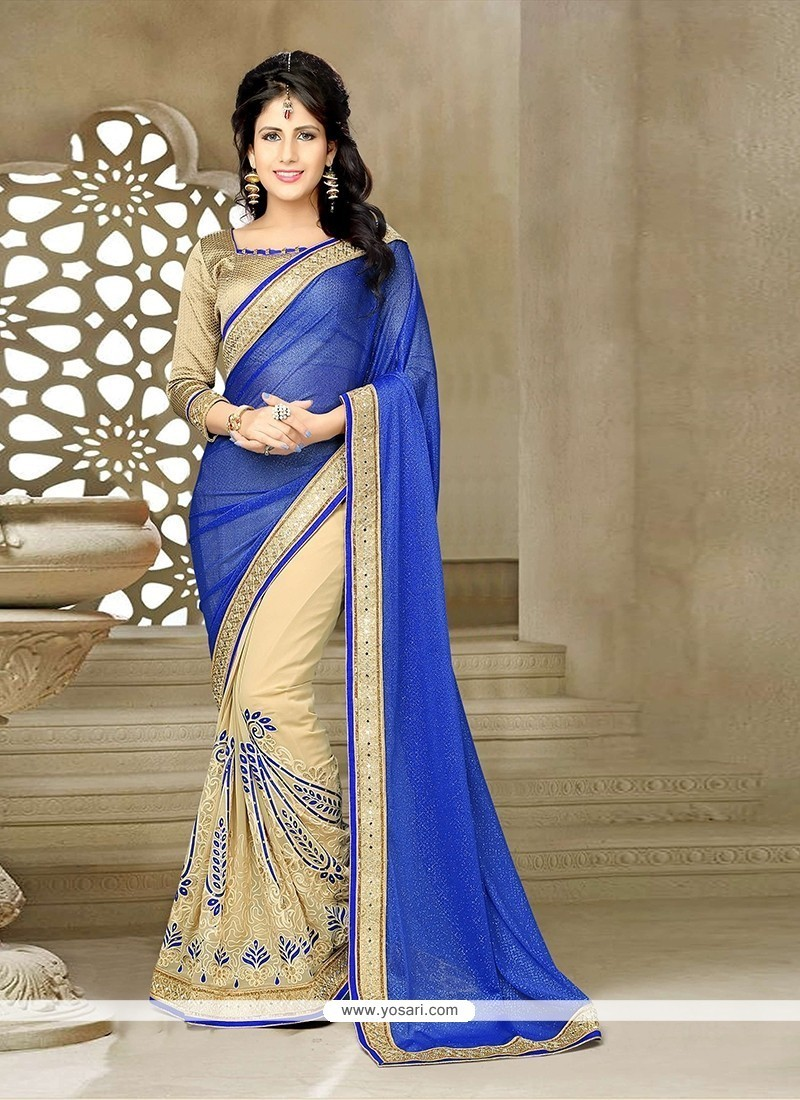 Angelic Georgette Patch Border Work Classic Saree