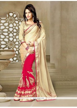 Enticing Georgette Patch Border Work Classic Designer Saree