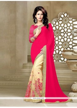 Refreshing Patch Border Work Classic Saree