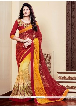 Flamboyant Multi Colour Designer Saree