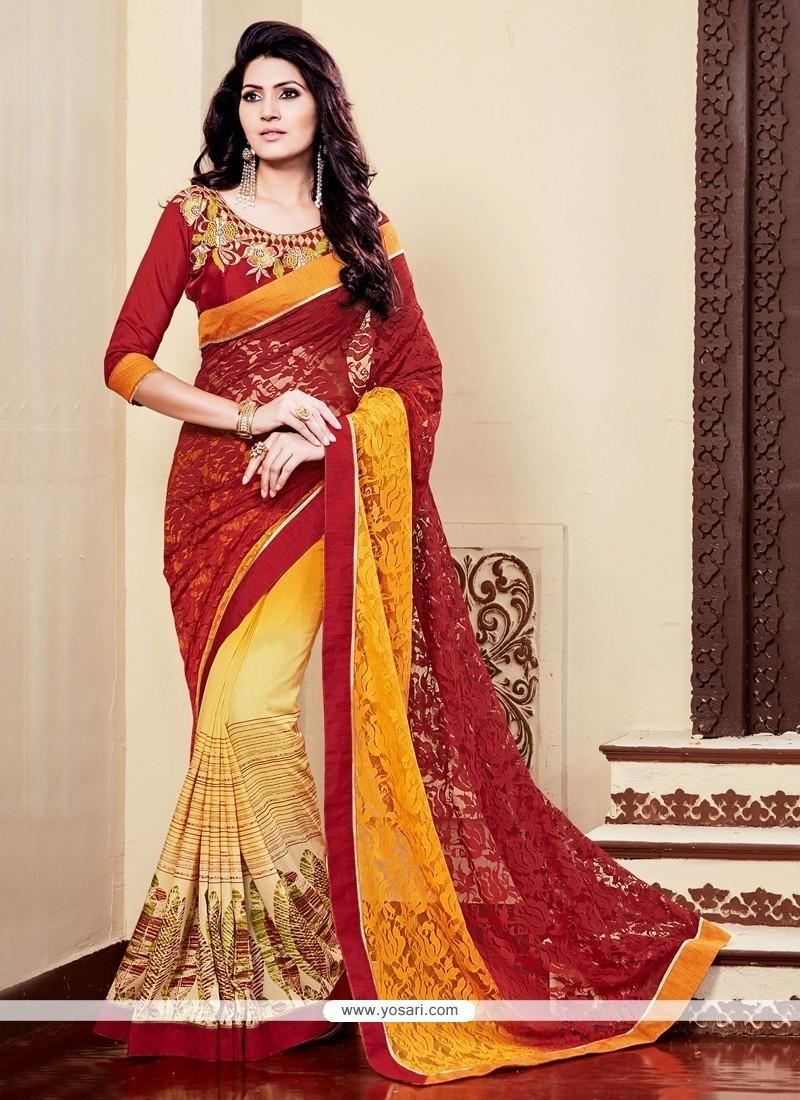 Flamboyant Multi Colour Designer Saree