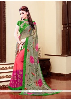 Miraculous Brasso Print Work Printed Saree