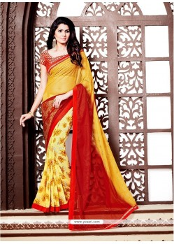 Royal Embroidered Work Printed Saree