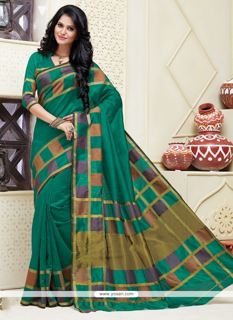 Preferable Patch Border Work Cotton Designer Saree
