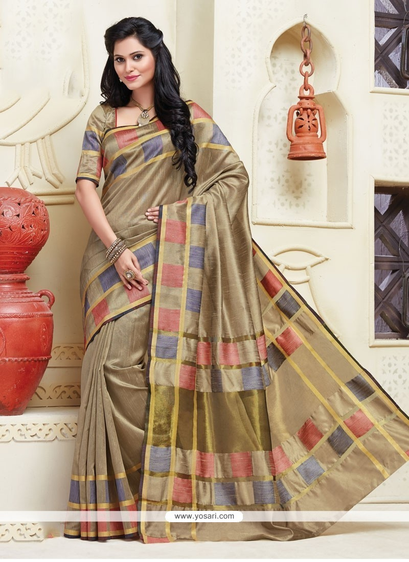 Luxurious Cotton Designer Saree