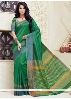 Subtle Patch Border Work Cotton Designer Saree