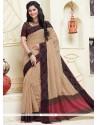 Stunning Cotton Beige Designer Saree