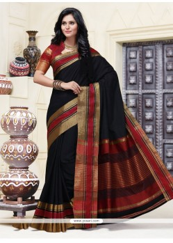 Superlative Cotton Patch Border Work Designer Saree