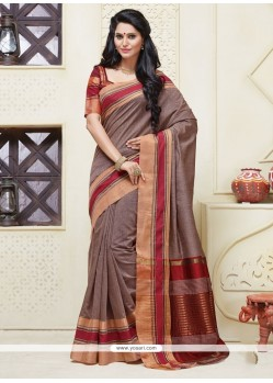 Surpassing Grey Designer Saree