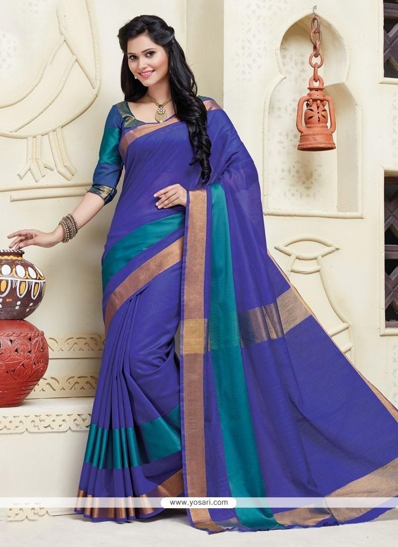 Ideal Blue Designer Saree