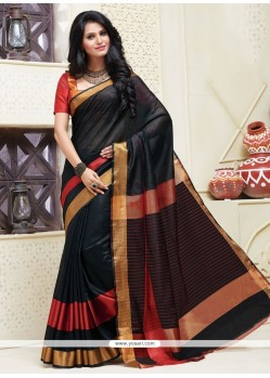 Pristine Cotton Patch Border Work Designer Saree