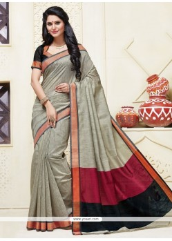 Lustre Cotton Designer Saree