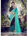 Entrancing Navy Blue Designer Saree