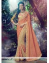 Exotic Beige Georgette Designer Saree