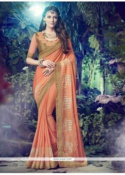 Vibrant Embroidered Work Designer Saree