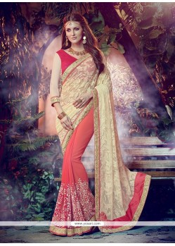 Especial Embroidered Work Georgette Designer Saree