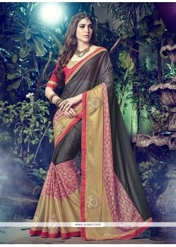 Demure Lycra Multi Colour Designer Saree