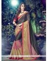 Demure Lycra Multi Colour Designer Saree