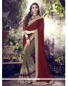 Aesthetic Brown Designer Saree