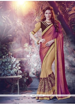 Catchy Embroidered Work Silk Designer Saree