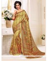Affectionate Print Work Silk Casual Saree