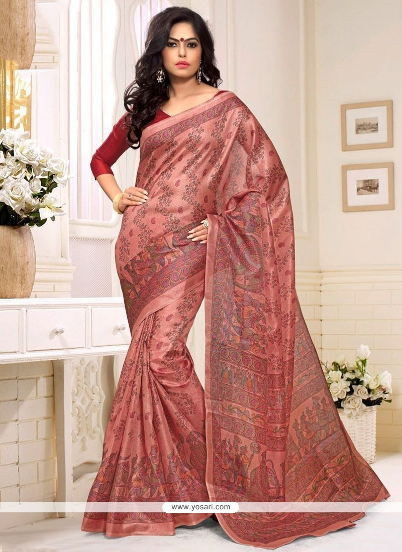 Modern Multi Colour Silk Casual Saree