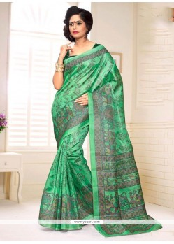 Nice Silk Print Work Casual Saree