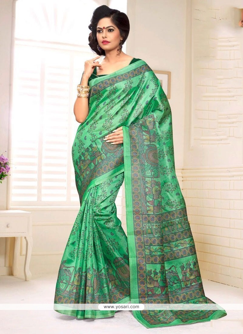 3f2a946a5ff4c5 Buy Nice Silk Print Work Casual Saree Online : South Africa