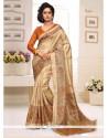 Vehemently Silk Print Work Casual Saree