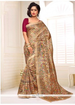 Affectionate Print Work Casual Saree