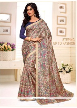 Opulent Print Work Multi Colour Casual Saree