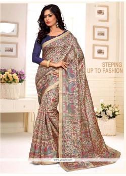 Opulent Print Work Multi Colour Casual Saree