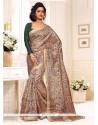 Glamorous Silk Print Work Casual Saree
