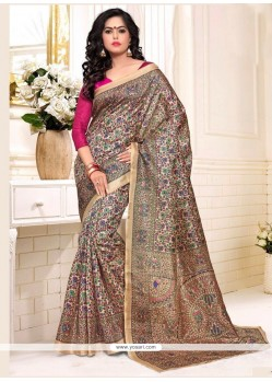 Pleasance Silk Multi Colour Casual Saree