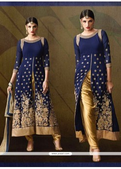 Orphic Navy Blue Designer Salwar Suit