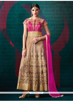 Surpassing Embroidered Work Anarkali Salwar Suit