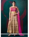 Surpassing Embroidered Work Anarkali Salwar Suit