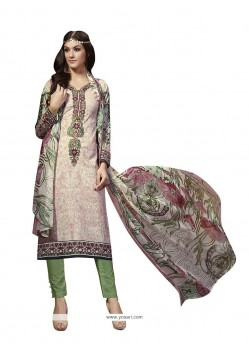 Divine Fancy Fabric Multi Colour Print Work Pant Style Suit