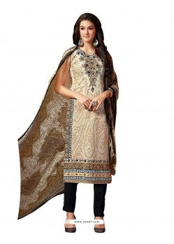 Adorable Embroidered Work Beige Fancy Fabric Pant Style Suit